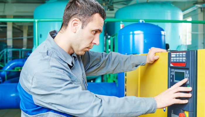 Operating a water treatment plant